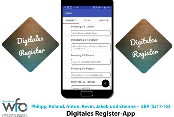 """App """"Digitales Register"""""""