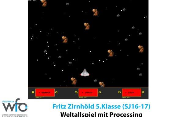 Weltallspiel mit Processing